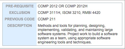 COMP3111 - Course Description